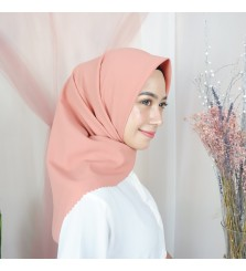 Hijab Segi 4 Lasercut Diamond Cloud Coral