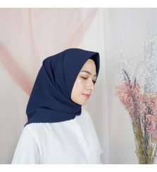 Hijab Segi 4 Lasercut Diamond Cloud Navy