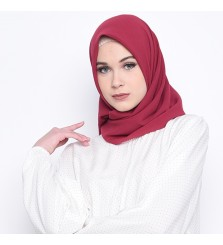 Hijab Segi 4 Lasercut Diamond Cloud Plum