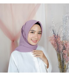 Hijab Segi 4 Lasercut Diamond Cloud Taro