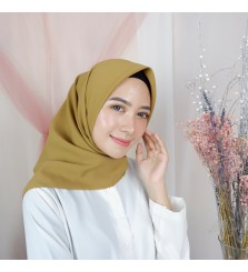 Hijab Segi 4 Lasercut Diamond Cloud Umber