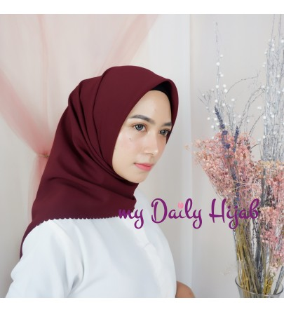 Hijab Segi 4 Lasercut Diamond Cloud Rosewood