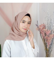 Hijab Segi 4 Lasercut Diamond Cloud Rosy Brown