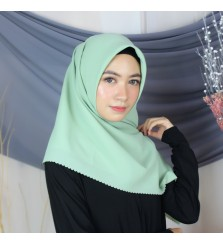 Hijab Segi 4 Lasercut Diamond Cloud Matcha