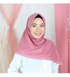 Hijab Segi 4 Lasercut Voal Poly Cloud Old Rose