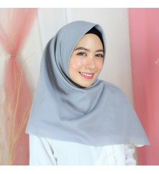 Hijab Segi 4 Lasercut Voal Poly Cloud Grey