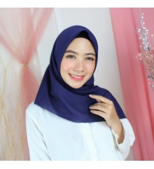 Hijab Segi 4 Lasercut Voal Cloud Navy